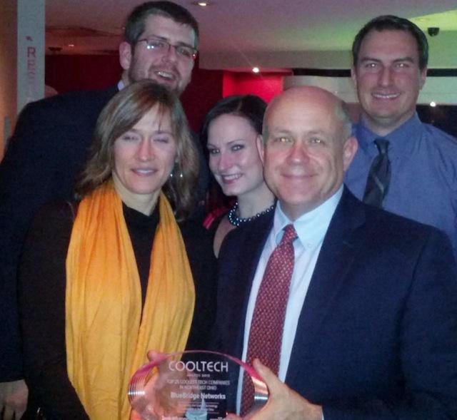 Team BlueBridge accepts IB's Cool Tech 25 award